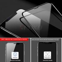 Vidro de proteção de borda curvada 100D no para iPhone 7 8 6 6s Plus Protetor de tela temperado para iPhone 11 Pro X XR XS Max Glass 3