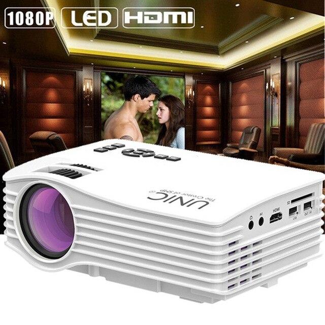 Unic uc36 uc36 + WI-FI мини-проектор Пледы 130 дюйма Портативный Мультимедиа светодиодный проектор с HDMI USB proyector домашний Театр проектор