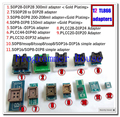 12 шт. универсальные адаптеры scoket для ключевой программист vs4800 tnm5000 TL866A TL866cs TL866II плюс ezp2010 2013 2019 G540 EZP2010 TOP3000