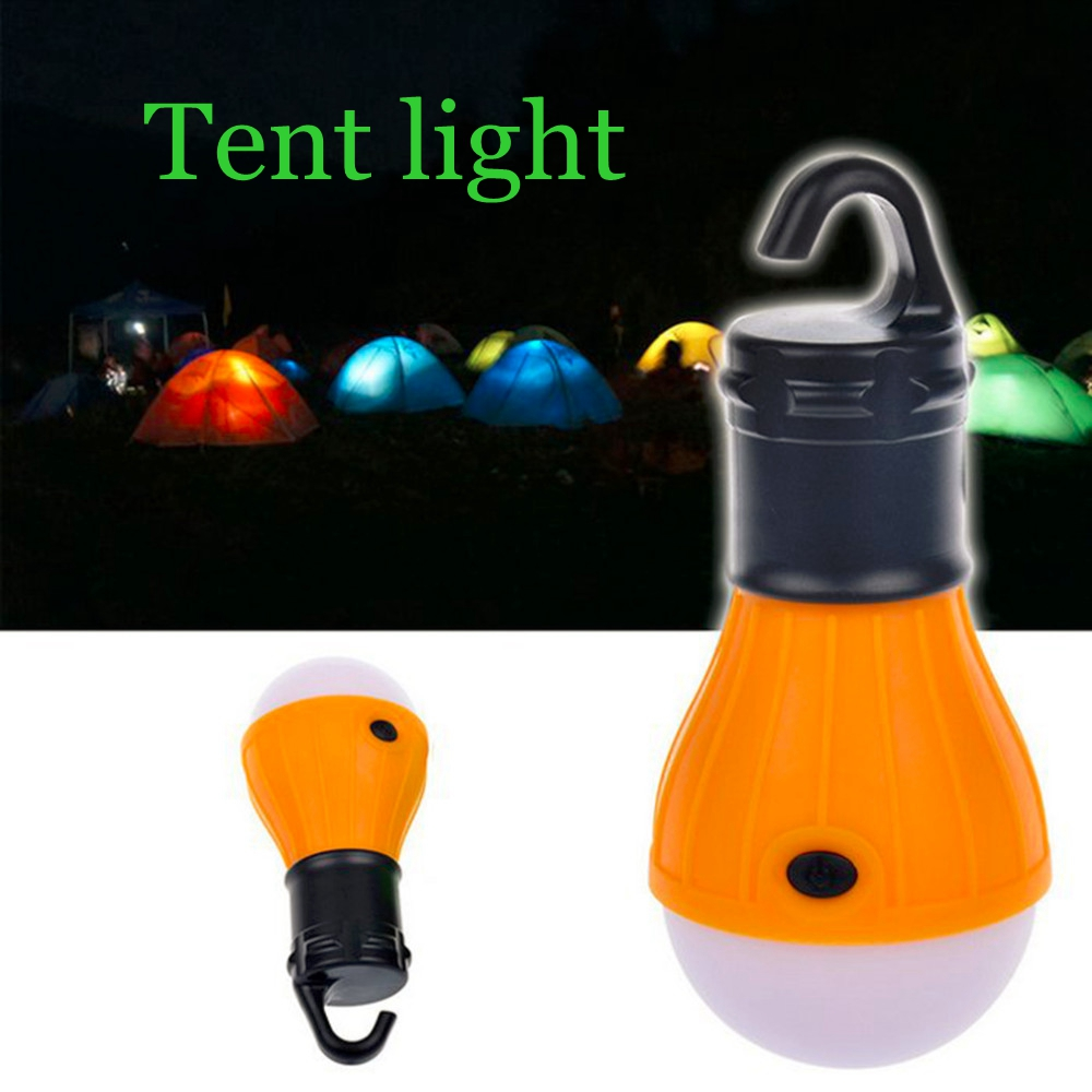 Mini Portable Lantern Emergency Light Bulb Battery Powered Camping Outdoor Camping Tent Accessories Outdoor Beach Tent Light