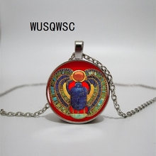 WUSQWSC 2018 fashion Egyptian beetle necklace ancient Egyptian jewelry Egyptian necklace jewelry female 3 colors to choose from egyptian magic mollo 118ml