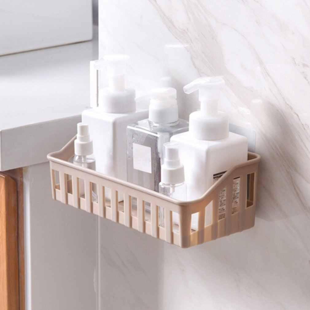 Kitchen Bathroom Storage Shelf Hanging Rack Corner Basket Holder Organizer Wall-mounted Storage Basket Household Organization
