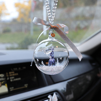CXZYKING Anime Crystal Ball Deer Figure Model Toys Dolls For Car Pendant Decor Keychain Collectible Model Anime Toys Girl Gifts