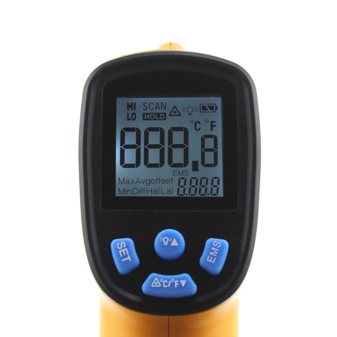 LCD Display Non Contact Laser Digital IR Infrared Thermometer Digital Informative Point Gun -50~330 Degree