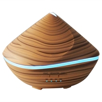 500Ml Aroma Essential Oil Diffuser Ultrasonic Air Humidifier Wood Aromatherapy Purifier 7 Color Change Led Night Light For Hom|Humidifiers|   -