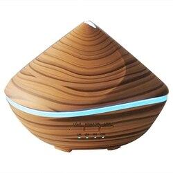 500Ml Aroma dyfuzor olejków eterycznych ultradźwiękowy nawilżacz powietrza aromaterapia drewna 7 led zmieniające kolor noc światło dla Hom w Nawilżacze powietrza od AGD na