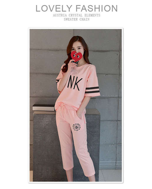 2017 PINK for Girls Fashion new Pajamas and jammies Women Sleepwear family Pyjamas Female Pink Color Casual