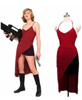 Resident Evil Biohazard Alice Cosplay Costume Red Custom Made Dress