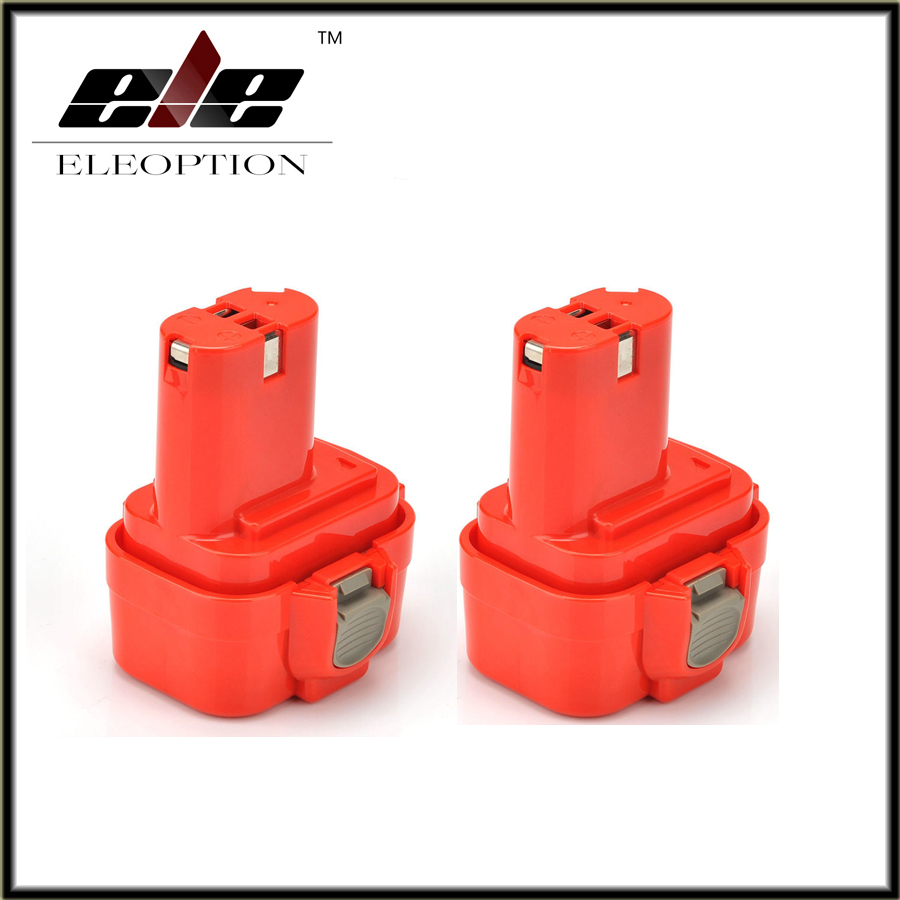 Eleoption 2pcs 9.6V Ni-CD 2.0Ah 2000mah Replacement Power Tool Battery for Makita 192019-4 192534-A 9100 9100A 9101 9101A 9102