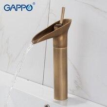 GAPPO смесители для раковины античная латунь водопад раковина кран смесители краны для ванной комнаты краны для воды на бортике