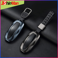 ShinMan High quality Aluminum alloy Key Car key Case key Cover For Tesla Model S model s Key Cover Car Keychain Accessories