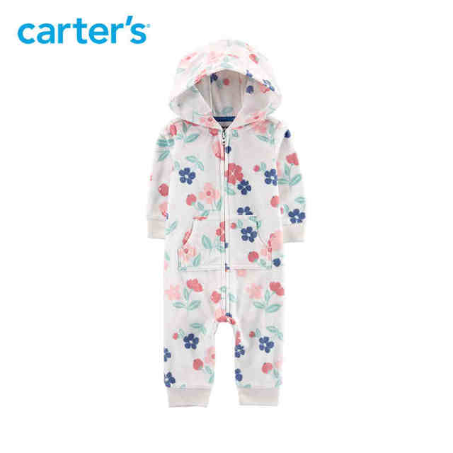 da516d2558af Carters 1-Piece baby children kids clothing Girl Fall & Winter 3D ears  Hooded Fleece Jumpsuit 118H672/118I712