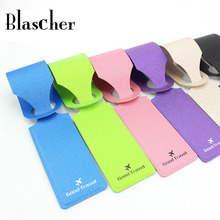 Travel Accessories PU Leather Fashion Slim Travel Luggage Tags Travel Necessities Multi Colors HTA14