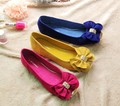 New Arrival HOT Sales Fashion Lady Shoes Autumn Spring Korean Design Bowknot Elegant Flat Shoes 3 Colors EUR33-43 V050-2