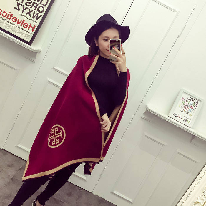 Women Scarf Winter Autumn Women Scarves Wrap Shawl Thick Womens Scarf Warm Cotton Cashmere Wool Blended Knit Brushed Scarf