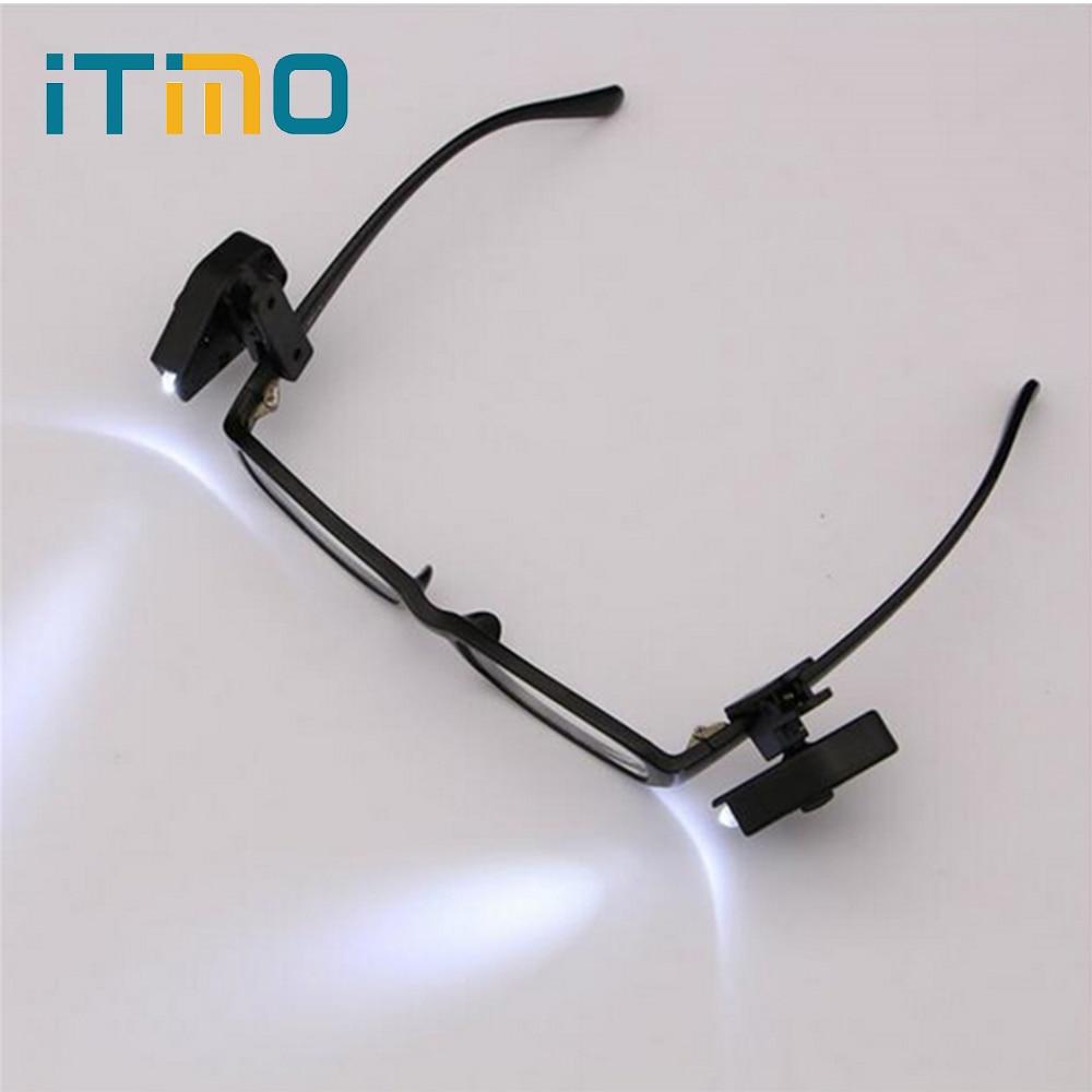 Flexible LED Eyeglass Clip On Adjustable Book Light For Eyeglass and Tools Portable Universal Mini Night Book Reading Lights
