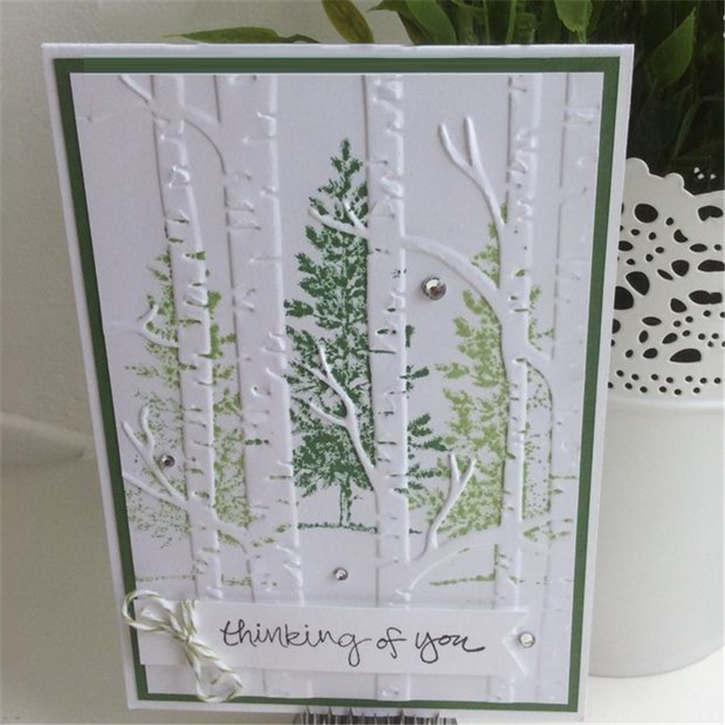 Birch Trees Metal Cutting Dies Stencil Scrapbooking Embossing  Paper  Crafts
