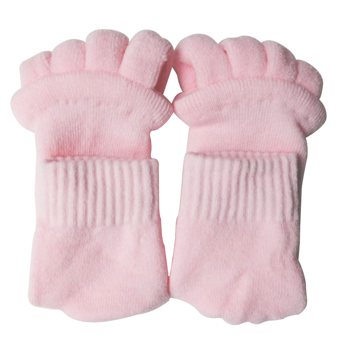 TOP 2PCS Feet Sleeping Massager Foot Alignment Toes Socks Massage Five Fingers Separator ...