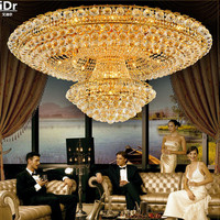 Continental Circular Golden Living Room Atmosphere Lobby Restaurant Crystal Luxury Hotel 1 2 1 5 M