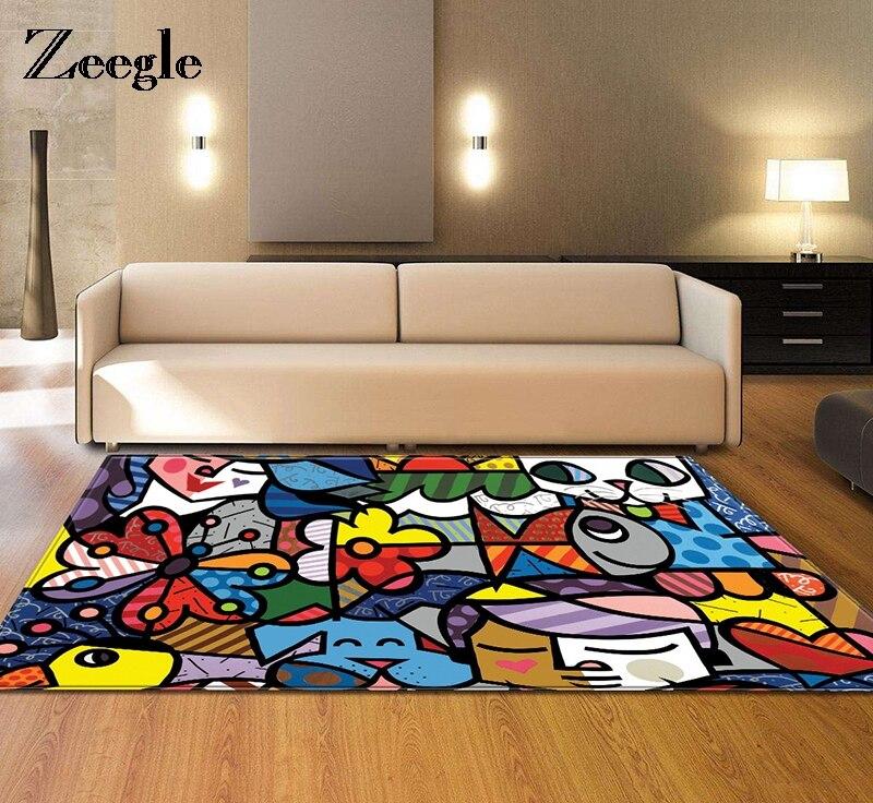 Zeegle Kids Bedroom Floor Mat Large Size Carpets For Living Room Tea Table Rugs Kitchen Bathroom Antiskid Mats Home Decor