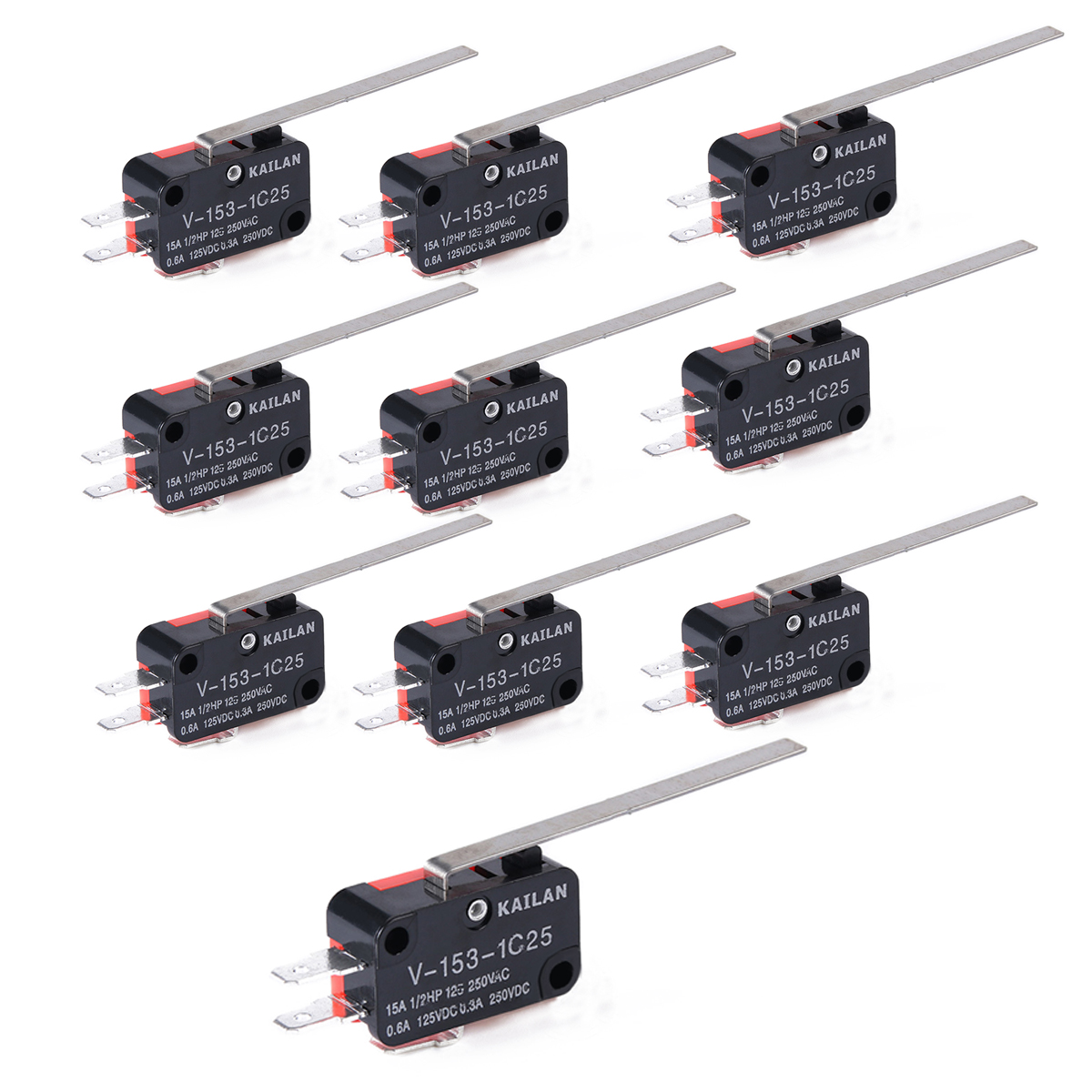 10pcs Lot Precision V 153 1c25 Limit Switch Long Straight