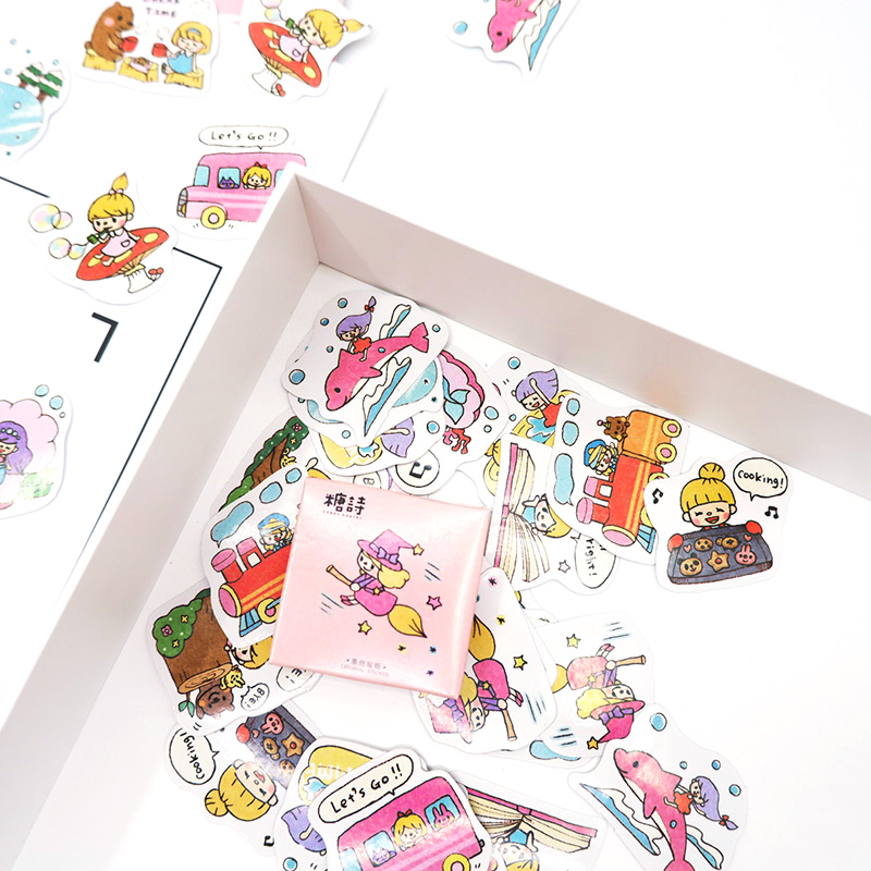 45 Pcs/box Cute Summer girl paper stickers DIY diary decoration album scrapbooking sticker Arts Craft