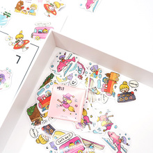 45 Pcs/box Cute Summer girl paper stickers DIY diary decoration album scrapbooking sticker Arts Craft