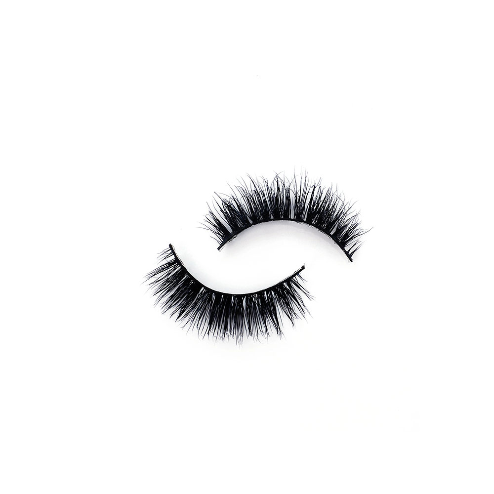 Popular Hand-made 1 Pair Natural 3D Mink Hair Long Crisscross False Eye Lashes Thick Make-up Extension Tools D-42