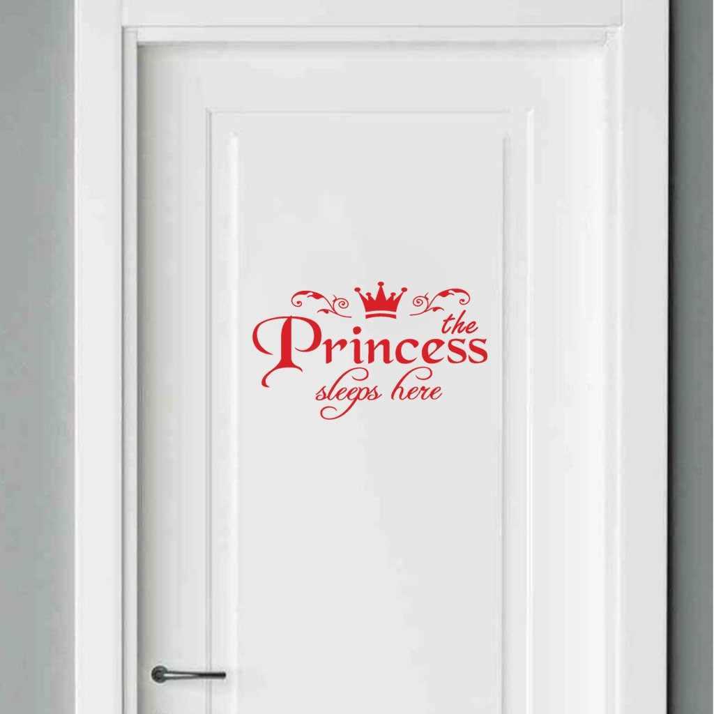 KAKUDER Princess PVC home decoration wall stickers door stickers decals girls bedroom door vinyl art mural high quality Dec29