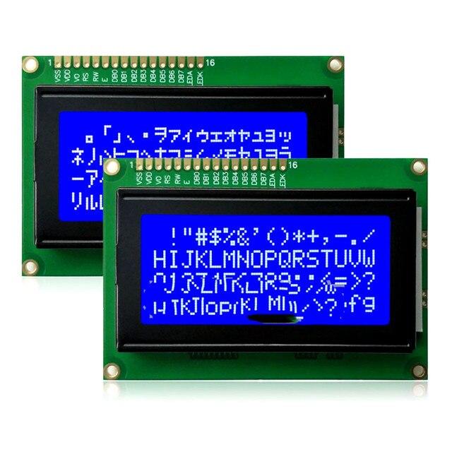 1604A LCD מסך 1604A 5V כחול מסך 1604 LCD אופי 16X4 מודול