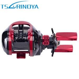 Image 5 - TSURINOYA XF50 Baitcasting Fishing Reels R/L 6.6:1 Magnet Brake System Light Aluminum Alloy Spool Moulinet Peche Casting Reel