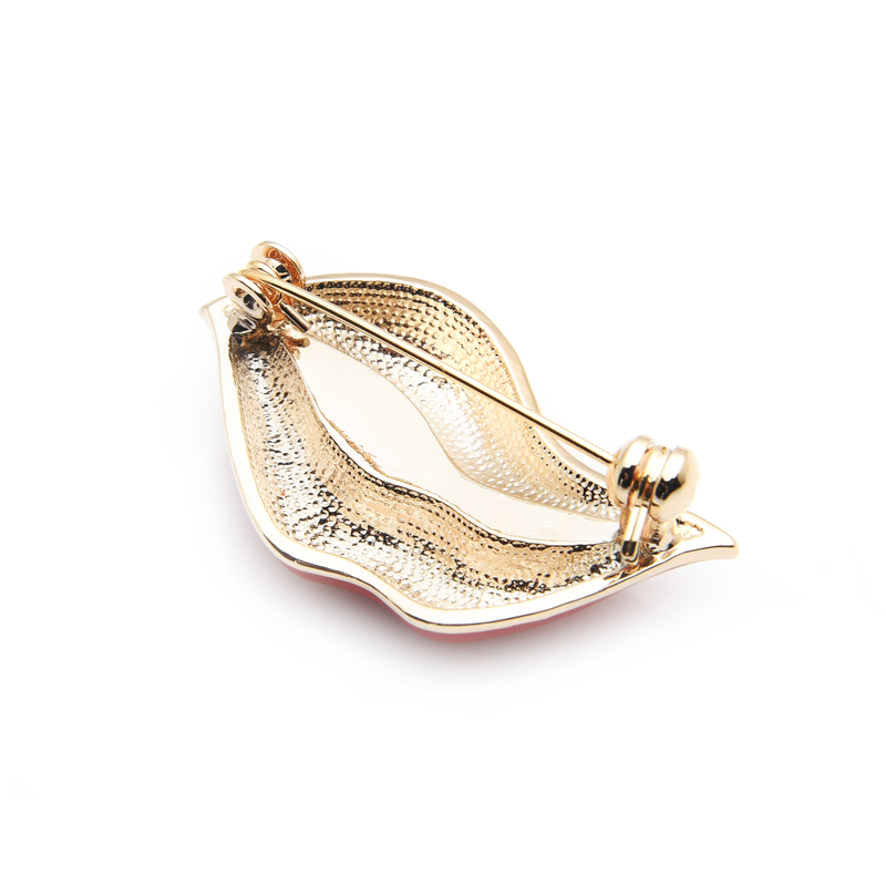 Wuli&baby Red Lip Enamel Brooches Women Men Party Banquet Alloy Brooches Pins Girls' Hats Bags Accessories 4