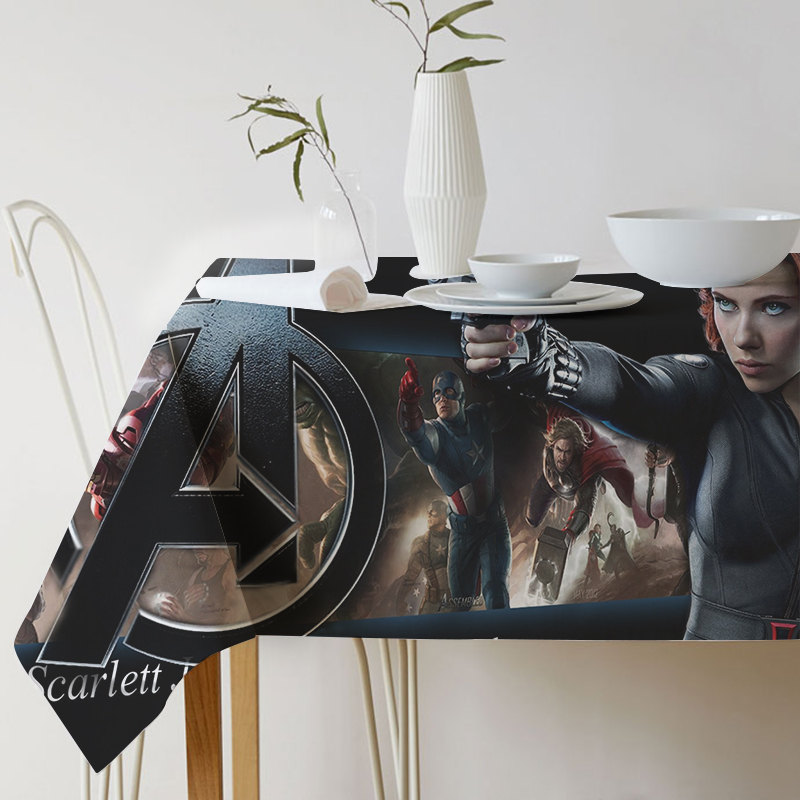 New Super Hero Battle of Infinity Print Decorative Table Cloth Avengers Alliance Cotton Linen Tablecloth Dining Table Cover