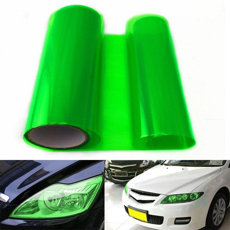 100 X 30CM Car Headlight Tailight Green Vinyl Wrap Film Sheet Cover Sticker Overlay Car styling For Ford Focus Chevrolet vw etc