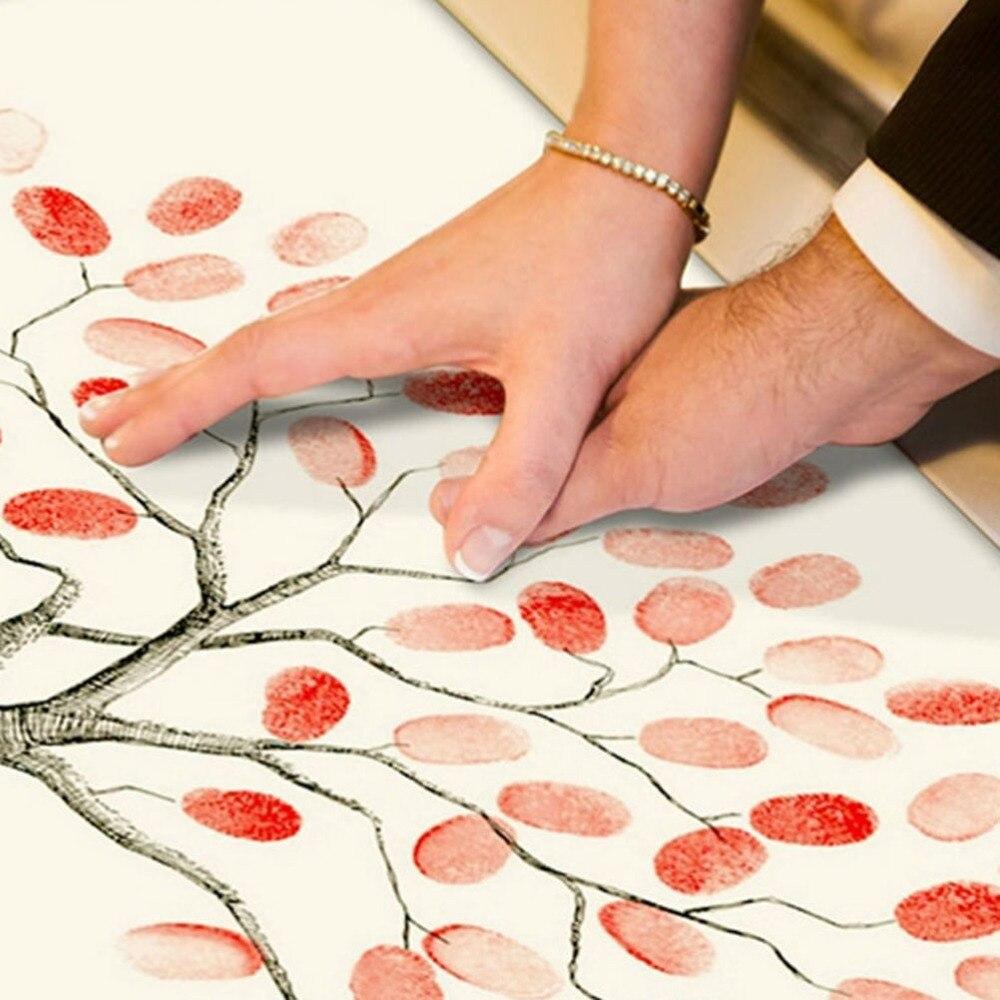 Personalize Fingerprint Wedding Tree Unique Signature Guestbook Alternative Vintage Decorations Guest Book In Party DIY