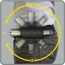 CQC 360 градусов вращающийся светодиодный тактический вспышки светильник Molle с креплением на ремне Фонарь держатель Чехол на открытом воздухе Охота светильник для носки на ремне