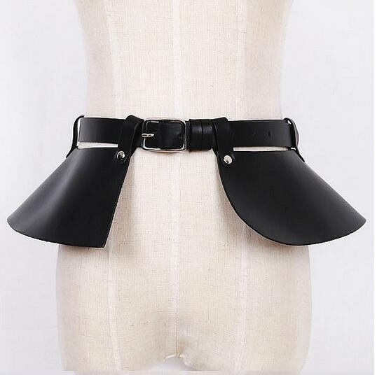 Sexy Wild Punk Harajuku Skirt Design Faux Leather Harness Craft Body Bondage Split Girdle Waist Belts Straps For Women Ladies