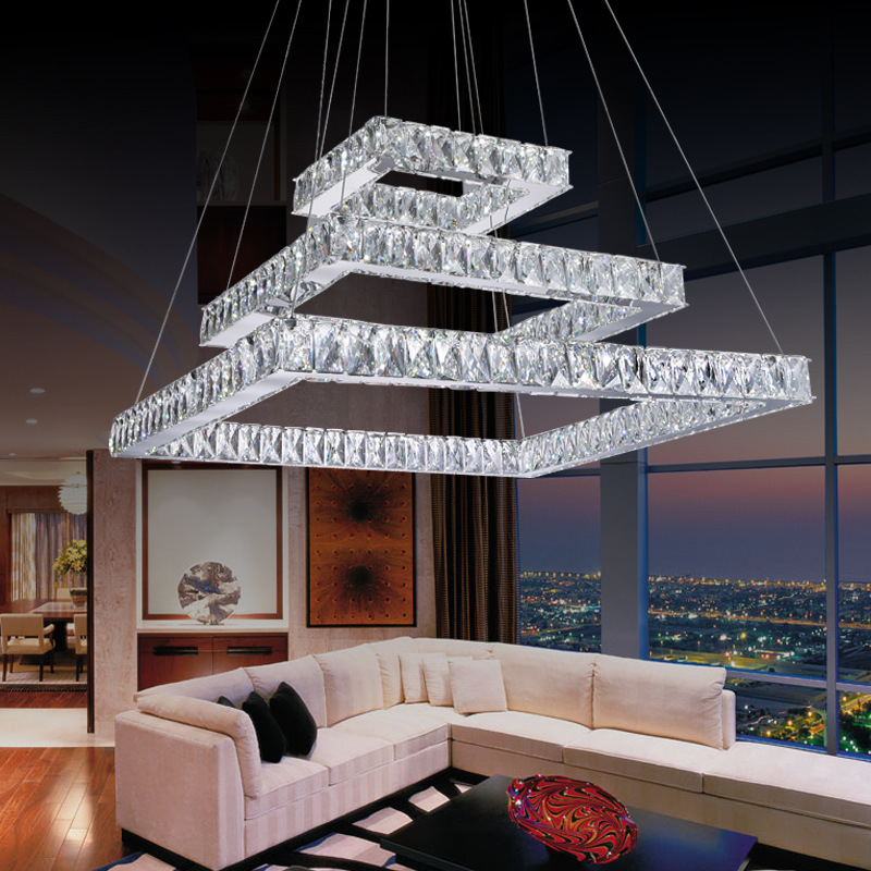 led crystal pendant lights for dining room kitchen restaurant lighting modern pendant lamp indoor led Fixtures Luminaire light 2016 new luminaire lamparas pendant lights modern fashion crystal lamp restaurant brief decorative lighting pendant lamps 8869
