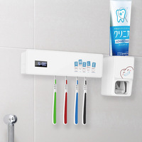 USB Charger UV Light Toothbrush Holder Sterilizer Box Ultraviolet Antibacterial Toothbrush Cleaner Toothpaste Dispenser