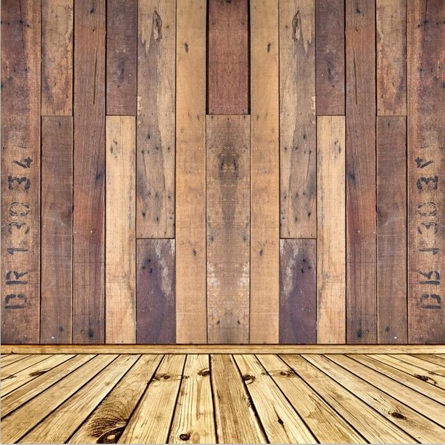 8x15ft Shabby Buff Wooden Pallet Wall Wood Floor Custom