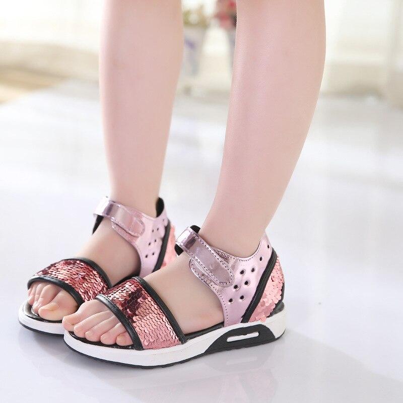 Summer Girls Sandals 2018 New Kid Summer Style Girls Princess - Obuwie dziecięce - Zdjęcie 1