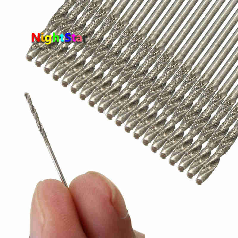 10Pcs/set 1MM Diamond Coated HSS Tipped Solid Bits Drill Twist Drills Bit Hole Saw panda робот пылесос panda x900 pro черный