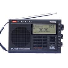 TECSUN PL-600 Цифровая настройка полный диапазон FM/mw/SW-SBB/ФАПЧ стерео Radios приемник (4xAA) PL-600 радио