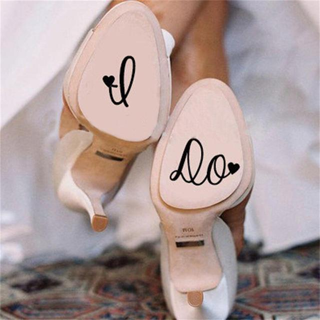 I Do Personalised Wedding Shoes Decal Vinyl Novelty Cute Stickers For Accessories Decor