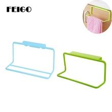FEIGO Towel Bar Hanging Holder Wardrobe Kitchen Cabinets Bathroom Rack Sponge Storage Cabinet Racks F691