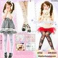 Princesa doce meia-calça lolita harajuku romper original de japão urso marrom rosa anjo cat crown cruz de veludo collants lkw4-2