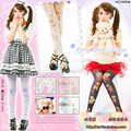Princess sweet lolita pantyhose HARAJUKU romper Japan's original brown bear pink angel Cat crown cross Velvet  tights  LKW4-2