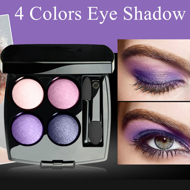 Professional 4 Color Eye Shadow Set Portable Long Lasting Flower Design Beauty Makeup Set Waterproof Female Makeup Products