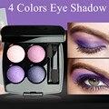 Profissional 4 Cor Da Sombra de Olho Conjunto Portátil de Longa Duração do Projeto Da Flor Beleza Conjunto de Maquiagem Produtos de Maquiagem À Prova D' Água do Sexo Feminino