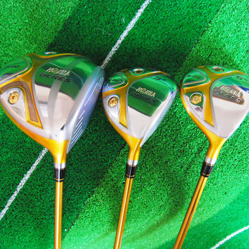 купить New mens Cooyute Golf clubs HONMA S-02 4star Golf wood Complete set driver with Fairway Woods Graphite Golf shaft Free shipping по цене 16795.38 рублей